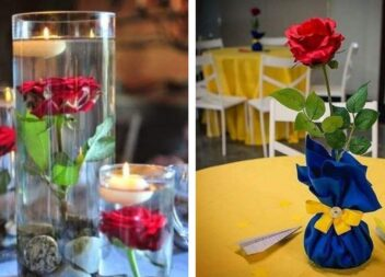 Прості способи використання однієї троянди в декорі