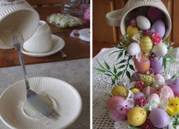 """Святковий декор до Великодня: """"Чаша з крашанками"""""""