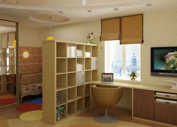 Дизайн однокімнатної квартири з дитиною - фото інтер'єру