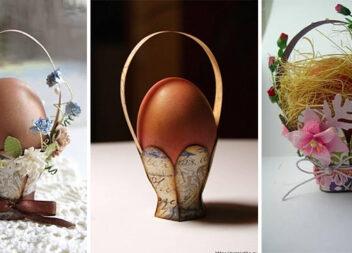 Декоративний невеликий кошичок до Великодніх свят