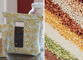 Мішечки для зберігання сипучих продуктів своїми руками