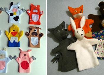 Домашній ляльковий театр самотужки: викрійки ляльок-рукавичок