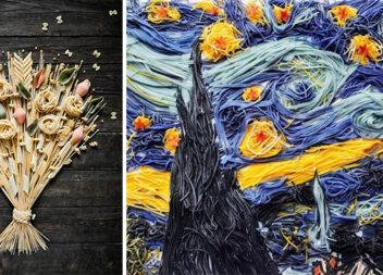 Картини з макаронів: креативні ідеї та майстер-класи своїми руками
