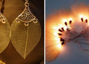Природний декор із скелетованого листя. Ідеї та відео майстер-клас
