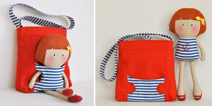 Дитяча сумочка з лялькою: цікава ідея для доньки