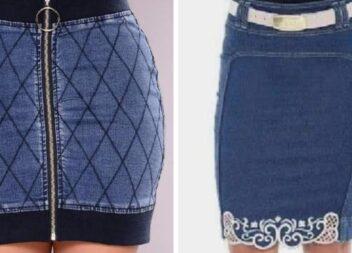 Шиємо модну спідницю зі старих джинсів