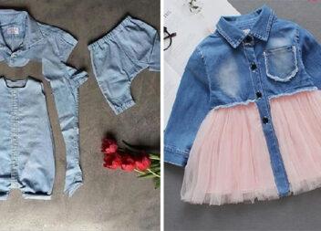 Перетворюємо непотрібні джинсові речі на стильний одяг для дітей