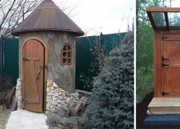 Душ і туалет на дачі. 38 цікавих рішень