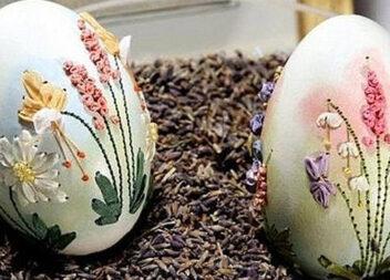 Вишивка на яєчній шкаралупі - оригінальне мистецтво, яке не знає рівних