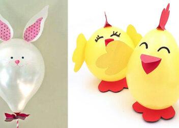 Великодній декор з повітряних кульок