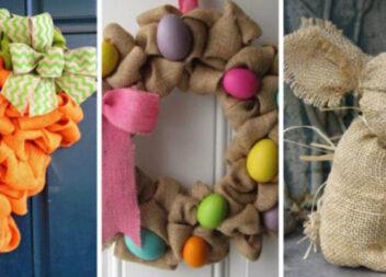 Ідеї чудесного пасхального декору зі звичайної мішковини