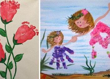 Як можна малювати за допомогою дитячих рученяток і ніжок
