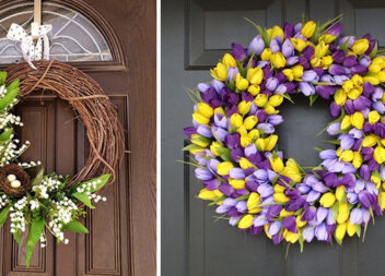 Прикрашаємо вхід до будинку весняними композиціями: більше 40 прикладів