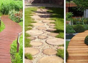 Доріжки з дерева для садової ділянки: більше 30 красивих варіантів