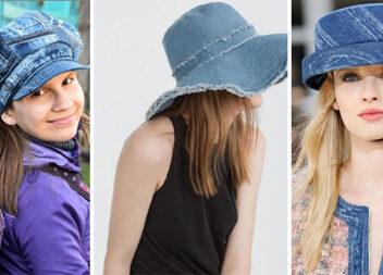 Капелюшки, кепки та панамки із джинсової тканини