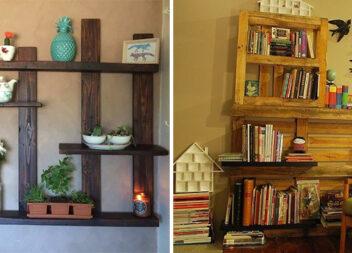 Прості, стильні і недорогі полиці з піддонів для дому та дачі