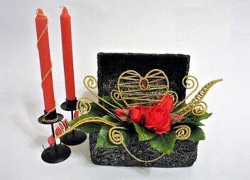 Декоративна скринька з фактурою з фольги. Майстер клас