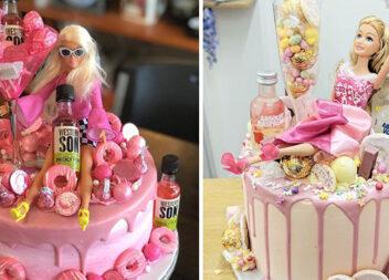 Ідеї торта з Барбі для дорослих дівчат