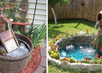 Створюємо декоративний водоспад на біля будинку (27 ідей)