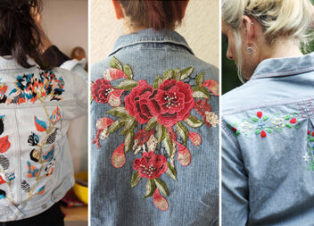 Вишивка на джинсових куртках: як красиво прикрасити одяг