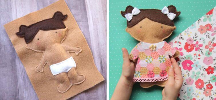 Шиємо ляльку із фетру