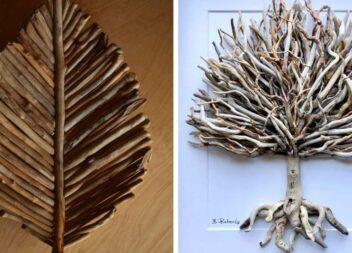 Мистецтво із дерев'яних гілочок