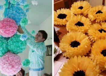 Створюємо об'ємні квіти із паперу. Шаблони та майстер класи