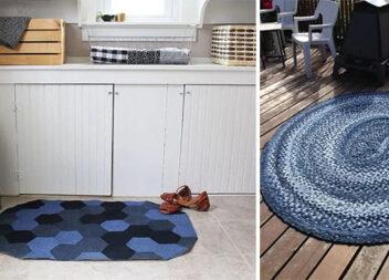 12 унікальних способів зробити стильні килимки з джинсу: хоч на продаж виставляй