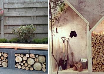Як скласти дрова: 10 фото красивих і зручних варіантів