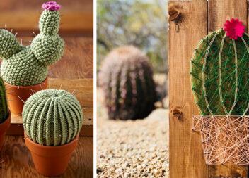 Такі різні кактуси! Ідеї створення рослини із різних матеріалів