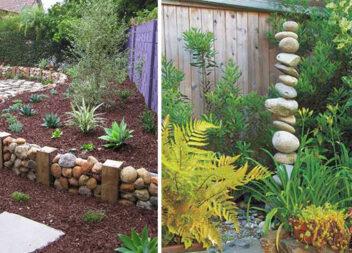 Цікаві варіанти прикрашання прибудинкової чи дачної ділянки звичайним камінням