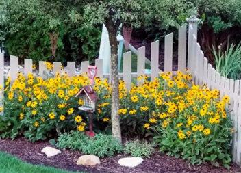 Квітник на подвір'ї для створення яскравих акцентів — 30 ідей з фото