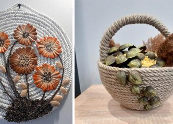 Композиції із мотузки та насіння. Чудовий декор в стилі еко