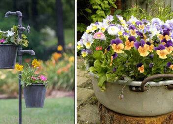 Старі речі - знахідка для саду: креативні ідеї, які заслуговують на увагу