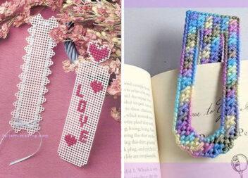 Закладки для книг із пластикової канви