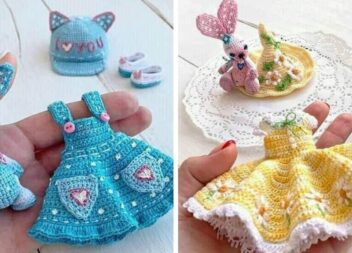 Щоб лялька була модною. Чудові сукні та аксесуари гачком