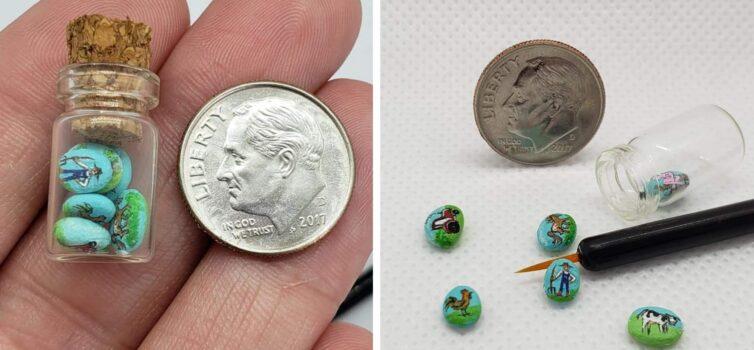 Мікро розпис камінців: техніка, яка вражає