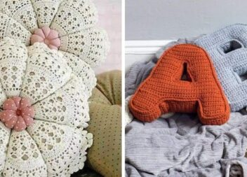 Кілька ідей нестандартних в'язаних декоративних подушок