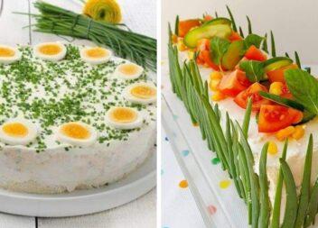 Як прикрасити салати, закусочні торти та рулети