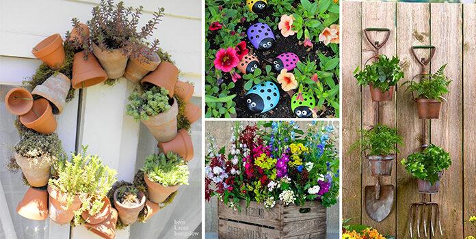 Оригінальні ідеї для декору саду. 16 фото