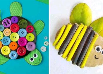 Цікаві аплікації із різних матеріалів для творчості з дітками