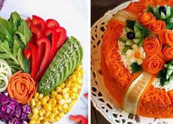 Овочева нарізка: як красиво подати салати зі свіжих овочів