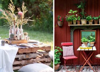Обідній стіл в саду чи на подвір'ї: 45 ідей оформлення