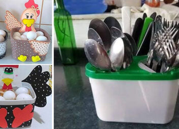 Красиві органайзери для кухні із непотрібних пластикових контейнерів. Ідеї