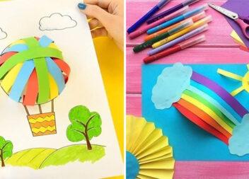 Аплікації із кольорових паперових смужок. Ідеї для батьків та дітей