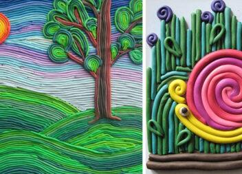 Творчість з дітьми: пластиліновий живопис зі шприца