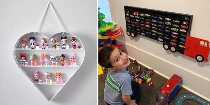 Креативні полиці для колекцій дитячих іграшок