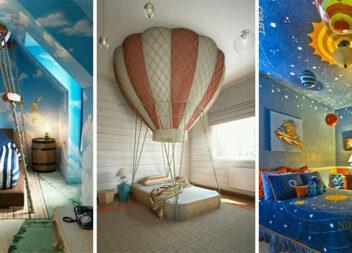 Дитяча кімната в незвичайному стилі: космос, повітряні кулі та казки