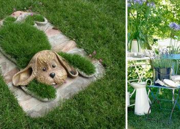 Цікаві і незвичайні способи декору дачної ділянки