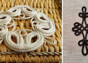 Декоративні елементи із мотузки та сутажу у вишивці